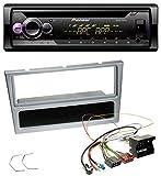 caraudio24 Pioneer DEH-S220UI 1DIN MP3 AUX USB CD Autoradio für Opel Combo C Corsa C Tigra Meriva ab 2005 Silber