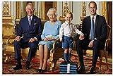 chuanglanja PóSter Y Estampados 40x60cm Sin Marco Póster de decoración de Dormitorio Familiar Moderno con impresión de Imagen artística de Pared de la Reina Isabel II y el Príncipe William