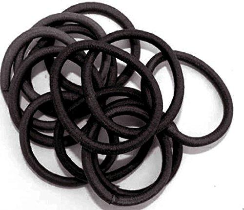 Hair Elastics IN6026 Lot de 12 élastiques pour cheveux Noir