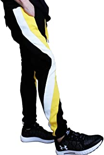 SEVEN THIRTY (セブンサーティ)ライン入り カーゴ カットソー 刺しゅう ジョガーパンツ ロゴシシュウ スウェットパンツ サイド変形ラインパンツ
