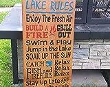 by Unbranded Letrero de madera para colgar en la pared, estilo rústico, primitivo, decoración de cabina, lago y casa; letrero de tipografía, letrero de verano de cabina