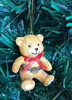 Hinged Porcelain Surprise Christmas Ornaments (Teddy Bear)