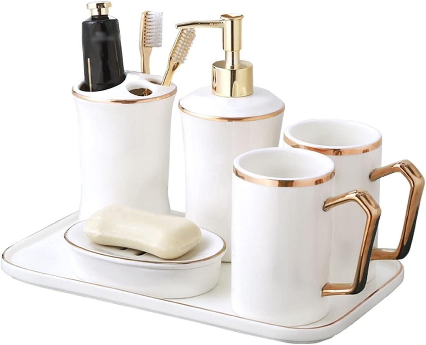 Soap Dispenser Bottle half 1 year warranty Lotion Set Bathroom Accessories