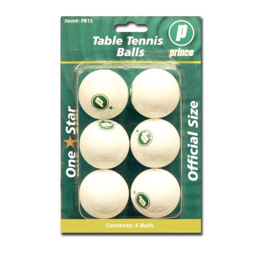 Sale!! Prince 1-Star Table Tennis Balls (White, 6-Pack)