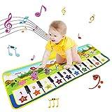 NEWSTYLE Alfombra Musical,Alfombra Piano para Niños Alfombrilla de Baile Teclado Estera de Alfombra Touch Juego Musical Portátil Educativo Musical Tapete,Juguete Electrónico Regalos