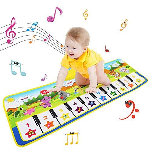 NEWSTYLE Tappeto Musicale Bambini,Tappeto Musicale per Bambini Tappeto Danza per Bambini Tappetino per Pianoforte Tappetino da Ballo,Tappeto Musicale Giochi Bambina 3 Anni,Regalo Bambini