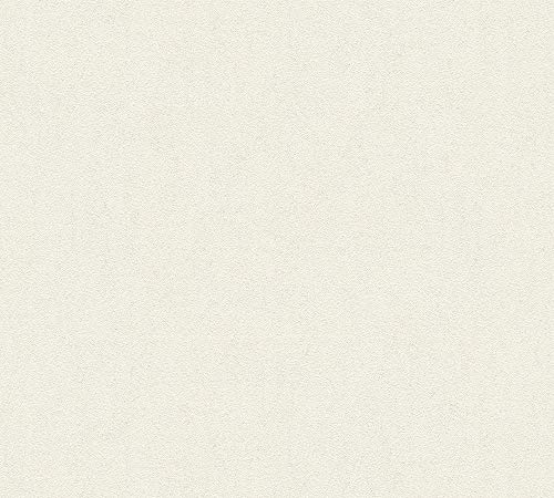 A.S. Création Vliestapete Luxury Walls Tapete Uni 10,05 m x 0,70 m beige creme Made in Germany 356154 3561-54