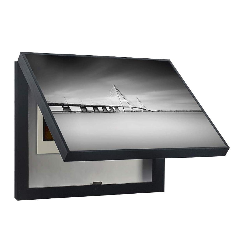 ストライド研磨合理化QIQIDEDIAN レストランのカバーメーターボックス装飾的な絵はプッシュすることができますとヨーロッパスタイルのリビングルームの配信ボックス電気ボックスを引っ張る (Color : White, Size : (50*40cm 40*30cm)-Flip cover)