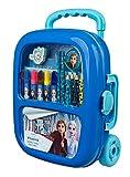 Undercover- Disney Frozen, Trolley Riempito con Set Creativo di pennarelli, matite Colorate, Adesivi e Accessori, 19 Pezzi, FRUW5150