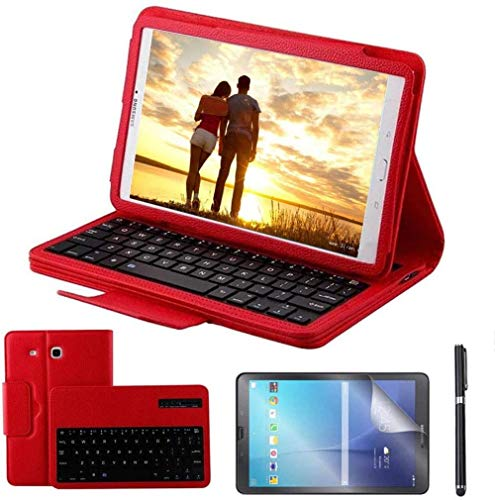 longeg Tablet Keyboard Case For Galaxy Tab A 10.5 2018 Model Sm T590 Sm T595 Detachable Wireless Keyboard Cover For Tab A 10.1 (Color : Red, Size : Note 10.1 2014 P600)