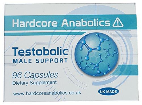 Testobolic Testosteron Booster Männlich Unterstützung Testo-Boost für Männer D-Asparaginsäure DAA Maca L-Arginin Erd-Burzeldorn Mumijo 500 mg 96 Kapseln