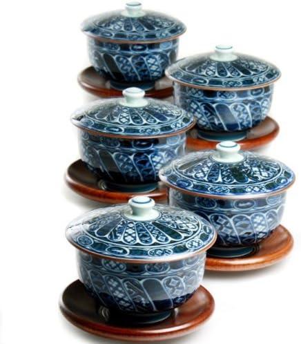 Sometsuke-Shouzui Arita-yaki 選択 3.9inch Set Teacups Porcelain 国内在庫 of 5