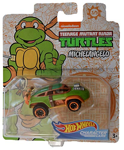 Hot Wheels Character Cars TMNT Michelangelo #3 of 5 Cars
