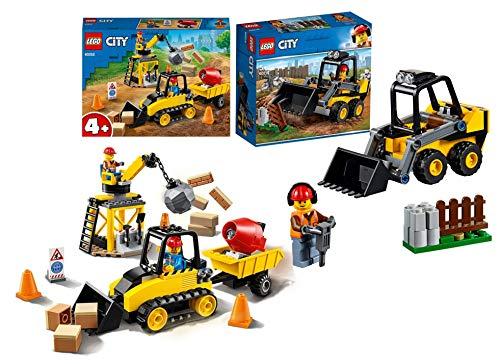 Legoo Lego City Set: 60252 - Bagger auf der Baustelle + 60219 Frontlader, ab 4 Jahre