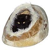 Hossi's Wholesale Waschbares Flauschi Katzenhöhle Tierbett mit Kuscheleinlage für Hund, Katze & Haustier
