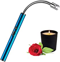 tikysky Candle Lighter, USB Rechargeable Lighter,Electric Arc Lighter Long Flexible Flameless for Candles,Camping,Grill,St...