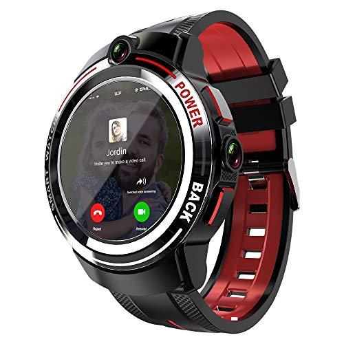Reloj Inteligente con Llamadas 4G, Cámaras Duales De Reconocimiento Facial De 3 + 32GB, Pantalla De Alta Definición De 1.39 Pulgadas, 830mAh IP67 a Prueba De Agua, WiFi, Bluetooth, GPS