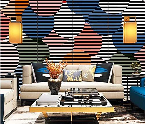 Wallpaper 3D Abstract Circle Photo Wallpaper Living Room Sofa Bedroom den Decorative Poster 150cmx105cm(59.1x41.3inch) PVC Wallpaper Wall Covering Wallpaper Non-Woven Fabric Wall Sticker