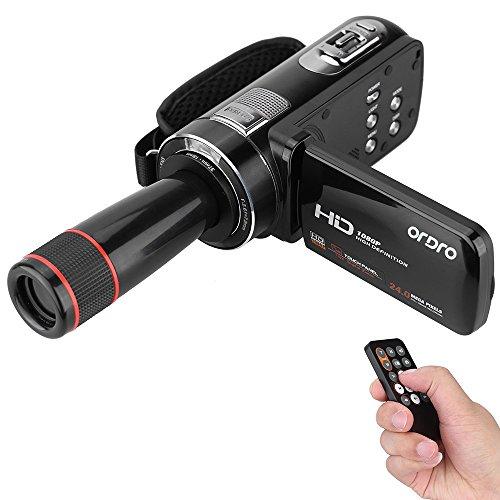 Andoer ORDRO HDV-Z8 1080p Full HD caméra vidéo caméscope 16 × numérique Zoom Rotation...