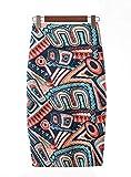 Axcellent Mujeres Elástico Midi Faldas Estampado Floral Alta Cintura Longitud de la Rodilla Bodycon Falda Lápiz Falda Tubo Falda Midi Skirt
