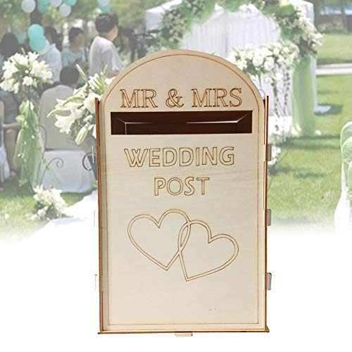 Dyda6 - Scatola per biglietti per matrimonio, stile Royal Mail, stile vintage, stile romantico, per feste, Mr & Mrs, per matrimoni, invitati, in legno, idea regalo fai da te