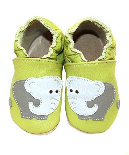 Krabbelschuhe Elefant von baBice, Schuhgröße:16/17 (0-6 Monate)