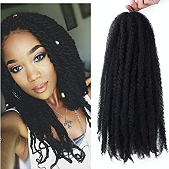 Marley Hair 4 Packs Afro Kinky Curly Crochet Hair 18 Inch Long Marley Twist Braiding Hair Kanekalon Synthetic Marley Braids Hair Extensions for Women