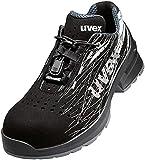 Zapatos de trabajo Uvex 1 - Zapatos de seguridad S1 SRC ESD - Negro, Talla:43