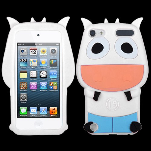 Fits Apple iPod Touch 5 (5th Generation) Soft Skin Case White Cow Pastel Skin (does NOT fit iPod Touch 1st, 2nd, 3rd or 4th generations)