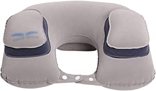 Travel Pillow Inflatable Travel Pillow U-Shaped Pillow Inflatable Aircraft Travel Pillow Neck Pillow Adult Lunch Break U-Shaped Pillow Neck Pillow Sleeping Pillow (Color : Gray, Size : 40 * 28cm)