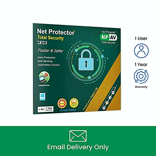 Net Protector NPAV Total Security 2021 Gold Edition- 1 PC, 1 Year (Email Delivery – No CD)