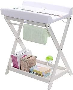 YDHYYDQCFJL Baby Diaper Changing Table-Change Table Wooden Baby Diaper Station Portable Diaper Unit Storage Station Baby Dressing Table Massage Station Nursery School Storage Organizer