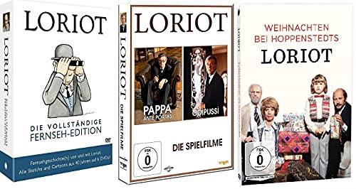 Loriot - Die vollständige Fernseh-Edition + Loriot - Pappa ante portas + Ödipussi + Loriot - Weihnachten bei Hoppenstedts [DVD Set] Die schönsten Loriot Sketche/Filme