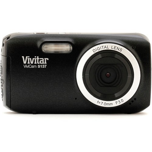 Vivitar 16.1MP Digital Camera with 3-Inch TFT (VS137-BLK-BOX-ESP),Black