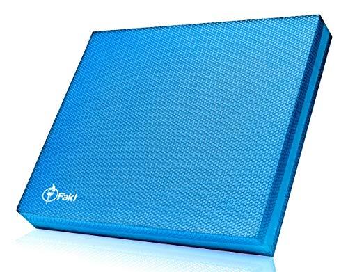 Fakl Balance Pad in blau - rutschfestes Balancekissen aus Schaumstoff - Wackelmatte zum Training von Stabilität & Koordination - rechteckige Gleichgewichtsmatte zur Stärkung der Tiefenmuskulatur