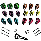 IgnatGames Dart Flights and Accessories – Comprehensive Darts Accessories Kit with Different Darts Flights and Flights Protectors, Shafts, Rubber O'Rings and Versatile Darts Tool