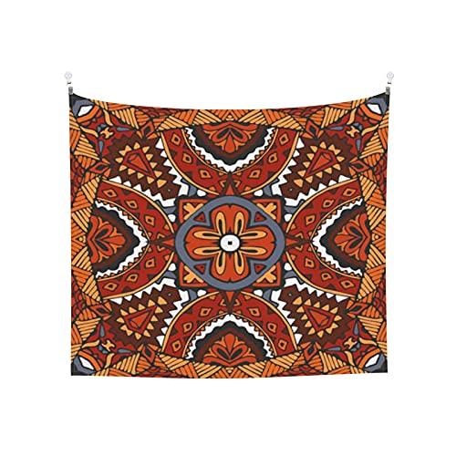 Badinton Tapiz de Pared,Transparente Retro Étnico Tribal Idian Impresión Vector De Fondo *Tapestry(Colgante de Pared) Decoración de Pared del hogar para Dormitorio Sala de Estar 152 x 130cm