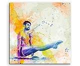 Turnen III 60x60cm Wandbild SPORTBILD Aquarell Art tolle
