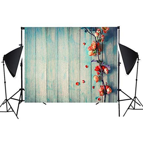 Ewendy Fondo de fotografía feliz de primavera de 1,2 x 0,8 m, fondo floral bebé niña niños retrato fiesta decoraciones banner foto stand estudio accesorios