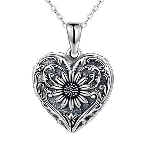 SOULMEET Cameo Sunflower Heart Lock…