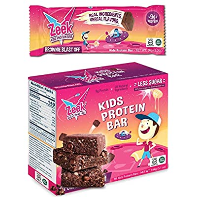 ZEEK BAR - Kids Protein Snack Bars - Less Sugar...