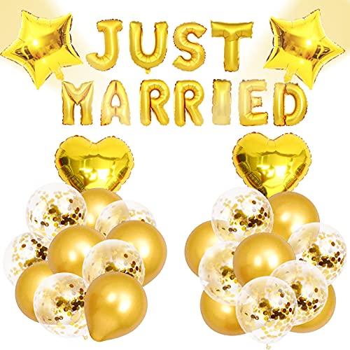 Just Married Decoración De Boda, Just Married Pancartas, Globos De Boda, Globo...