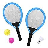YIMORE Tennisschläger Badminton Racket Set mit bälle Softball 3 in 1 Spielzeug für Kinder ab 3 4 Jahren (Blau)
