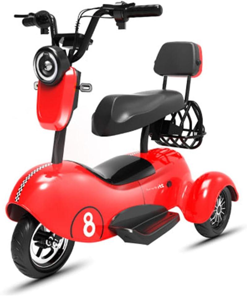 XINTONGSPP Triciclo eléctrico, Sencilla/biplaza/portátil Multifuncional cómodo y Resistente al Desgaste Mini Scooter eléctrico, Adulto Uso al Aire Libre/Necesidades diarias de la Oficina