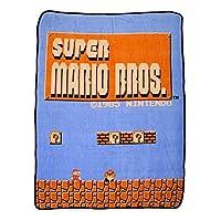 [バイオワールド]bioWorld Nintendo Super Mario Bros Retro Fleece Throw Blanket, 48 x 60 190371264948 [並行輸入品]