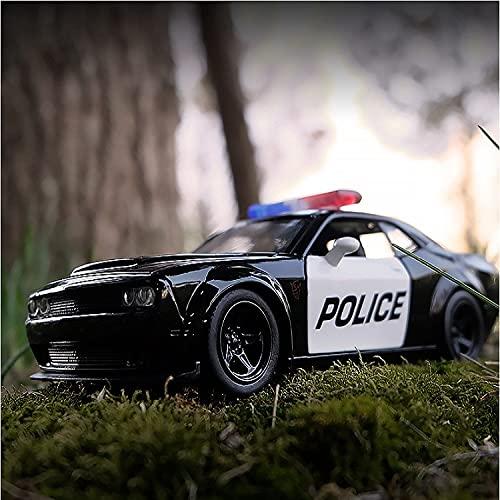Voiture modèle Haute Simulation Exquis Diecasts & Véhicules Jouets Car Styling Dodge Challenger Police 1:36 Alliage Supercar Modèle Jouet Voiture