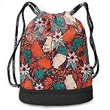 zhangyuB Bolsa con cordón Coloured Flowers Pattern Bonsai Men Women Gym Sport Yoga Shoulder Bags
