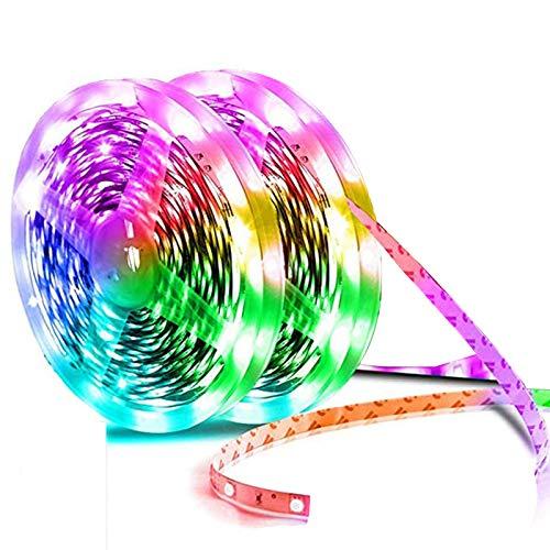 JIXIN Luces LED Tira De Luces LED Extralargas De 65 Pies para El Cambio De Color del Dormitorio 600 Leds con Fuente De Alimentación Y Control Remoto