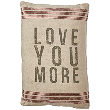 Primitives by Kathy 18293 Striped Pillow, 10  x 15.5 , Love You More