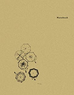 Notebook: Umbrella, ATOP - Minimal Design Unlined Notebook - Large (8.5 x 11 inches) - 110 Pages (notebooks and journals 8.5 x 11, notebooks for ... (Minimal Design Notebooks) (Volume 7)